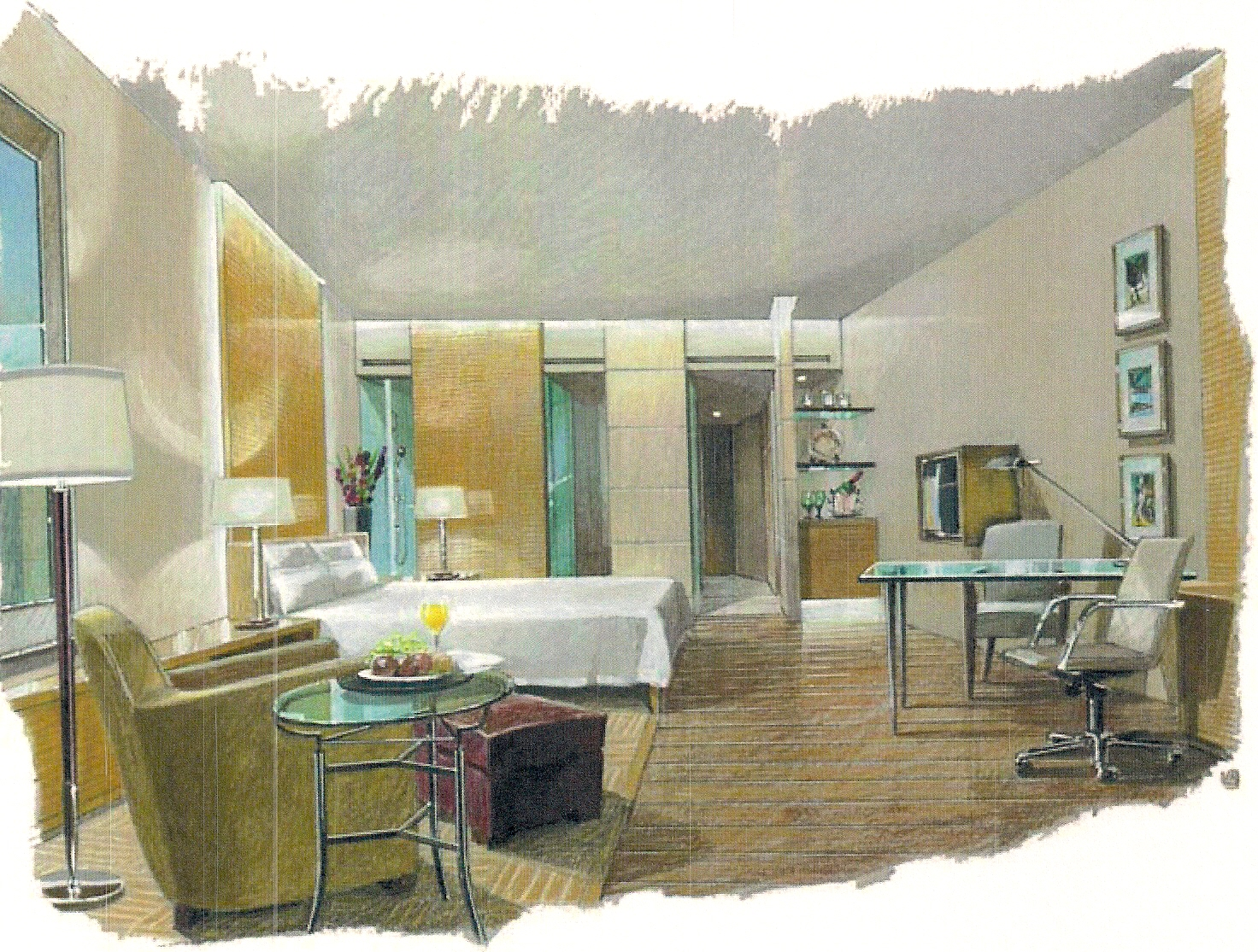 Interior Conceptual Sketch